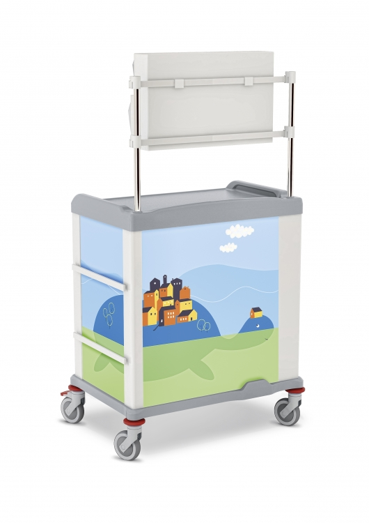 329563 linkar pediatric trolley with upper structure