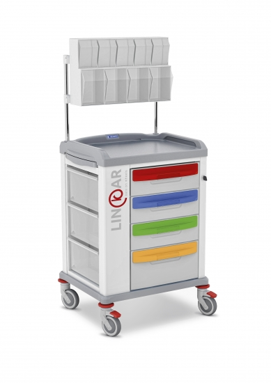 LINKAR pediatric trolley, 45 cm drawers, with upper...