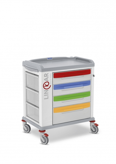 LINKAR Pediatric trolley, 60 cm drawers