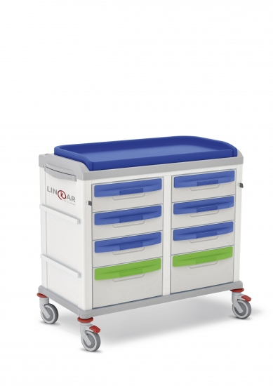 LINKAR Baby-Changing trolley, 45+45 cm drawers