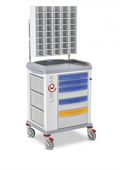 LINKAR Sutures trolley, 45 cm drawers