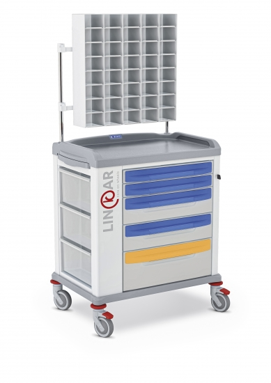 LINKAR Sutures trolley, 60 cm drawers