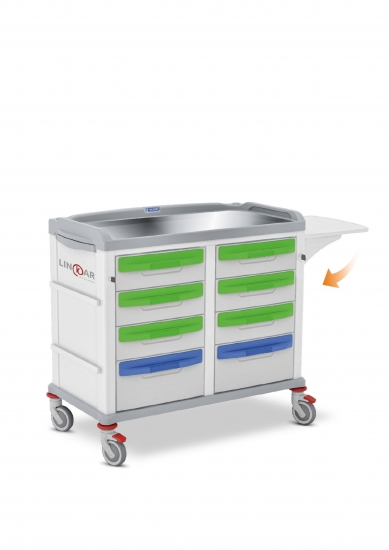 LINKAR Plaster trolley, 45+45 cm drawers