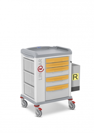 LINKAR Isolation trolley, 45 cm drawers