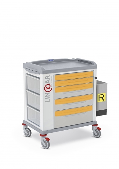 LINKAR Isolation trolley, 60 cm drawers