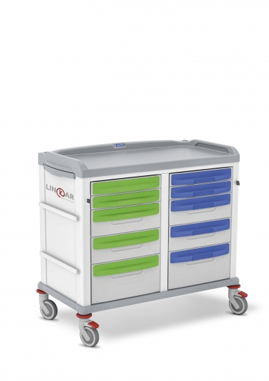 LINKAR Utility trolley, 45+45 cm drawers