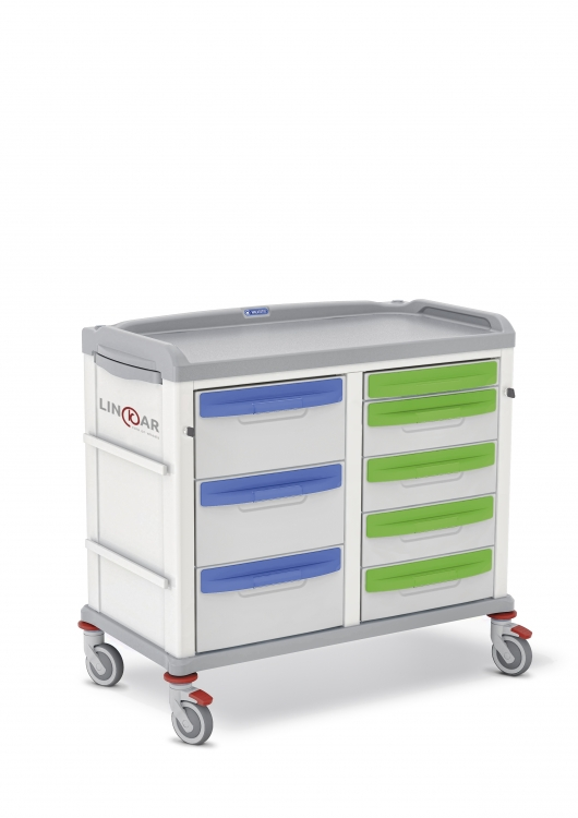 329613 linkar medical trolley with drawers