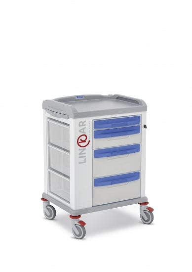 LINKAR Utility trolley, 45 cm drawers