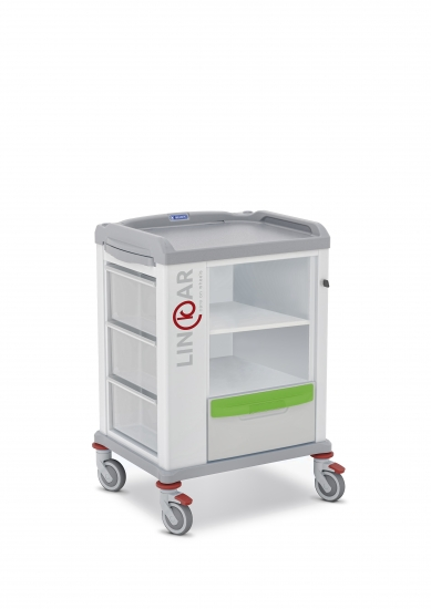 LINKAR Storage trolley, 45 cm drawers