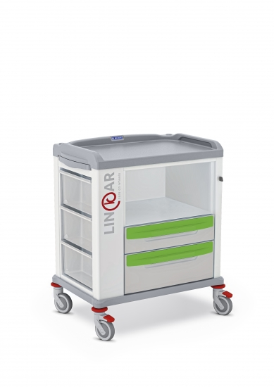 LINKAR Storage trolley, 60 cm drawers