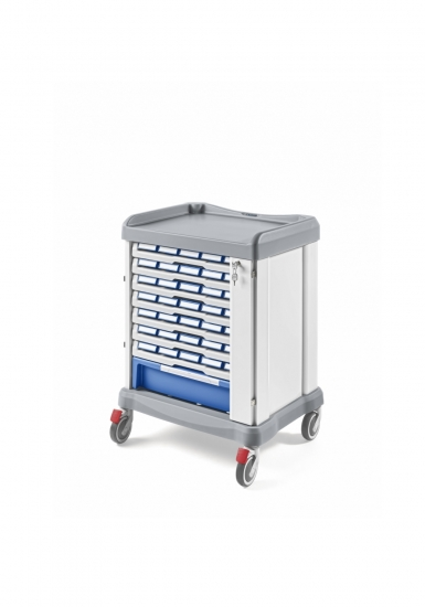 Medication distribution trolley