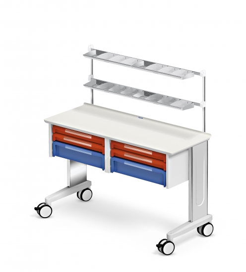Mobile worktop, Car-go range, 2 ISO drawer units, 4 drawers...