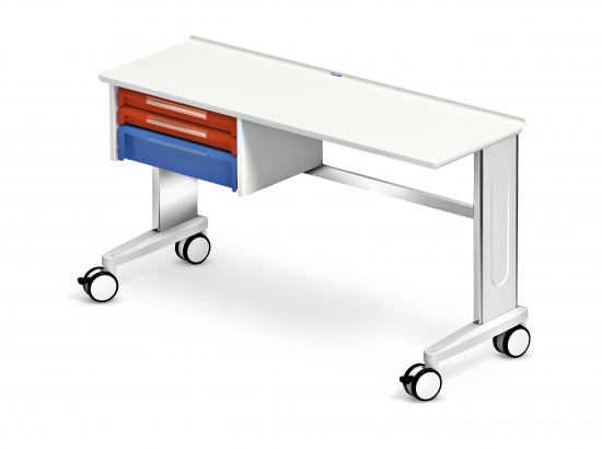Mobile worktop, CAR-go range, 1 ISO drawer unit, 2 drawers...