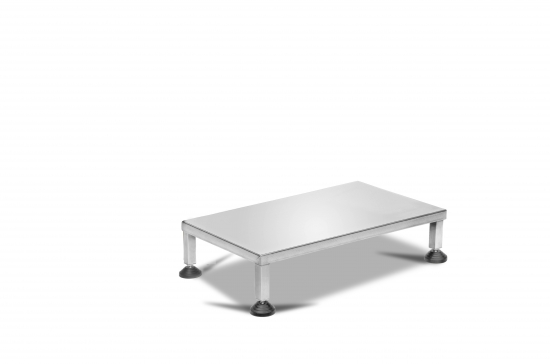 ONE STEP FOOTBOARD IN STAINLESS STEEL, DIM. CM 60x35x13 H