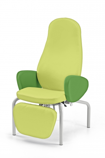 Desidia easy chair with a fixed base and synchronized...