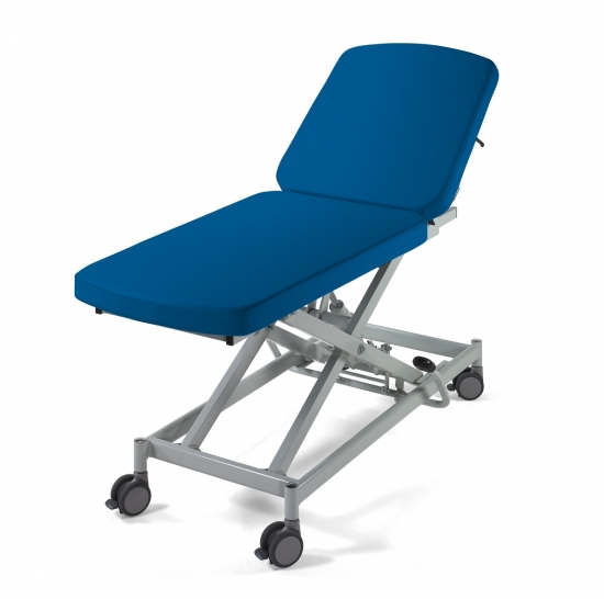 Examination couch with electric and hydraulic variable...