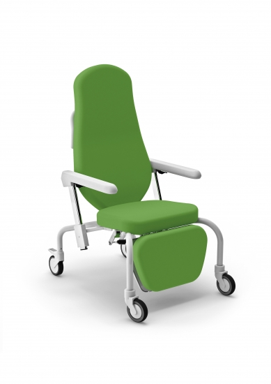 Syesta easy chair on wheels, height adjustable armrests...