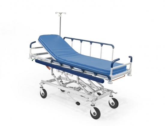 SISTY stretcher, hydraulic, height adjustable, metal mesh...