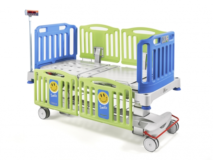 smile pediatric bed with weighing system 348650B