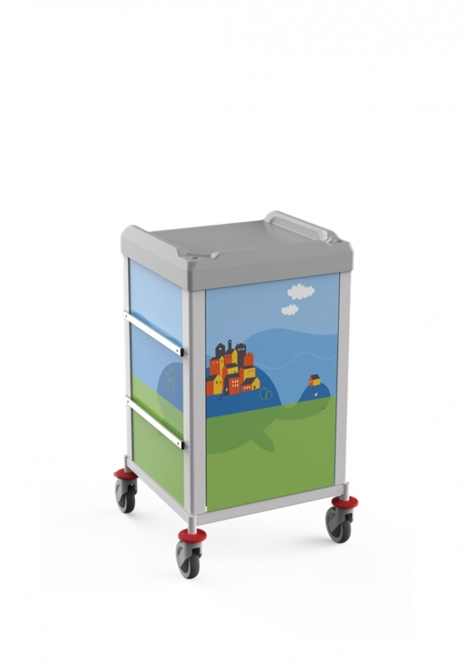 329562C carrello pediatria linkar compact retro