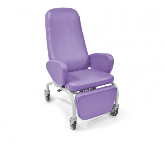 Easy chair with 4 Ø 125 mm wheels, of which the rear...