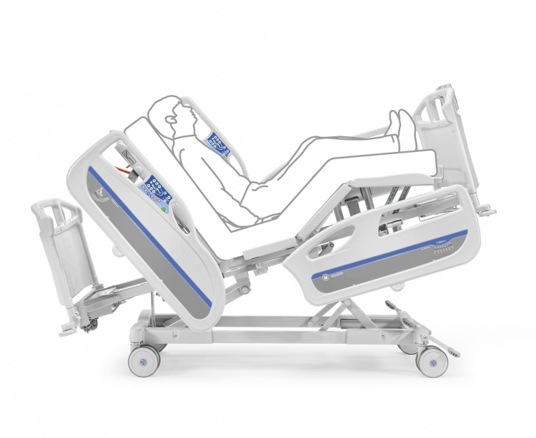 346760H electric bed hospital fowler position