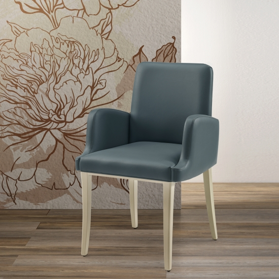 Upholstered small armchair