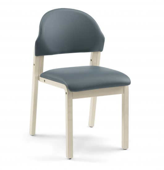 Chair with upholstered backrest and seat