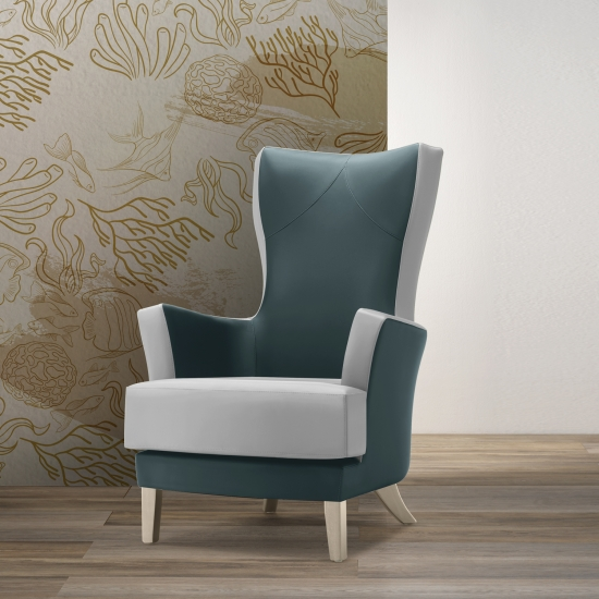 Upholstered armchair