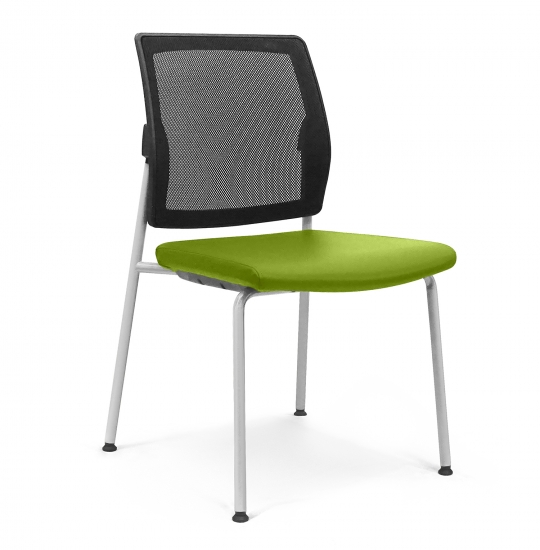 Chair with mesh backrest and padded seat