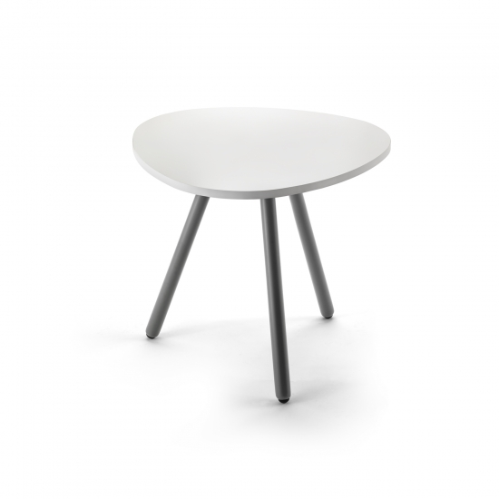Small drop-shaped table, with three legs, anthracite finish