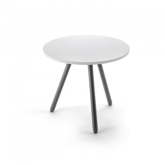 Small round table, with three legs, anthracite finish