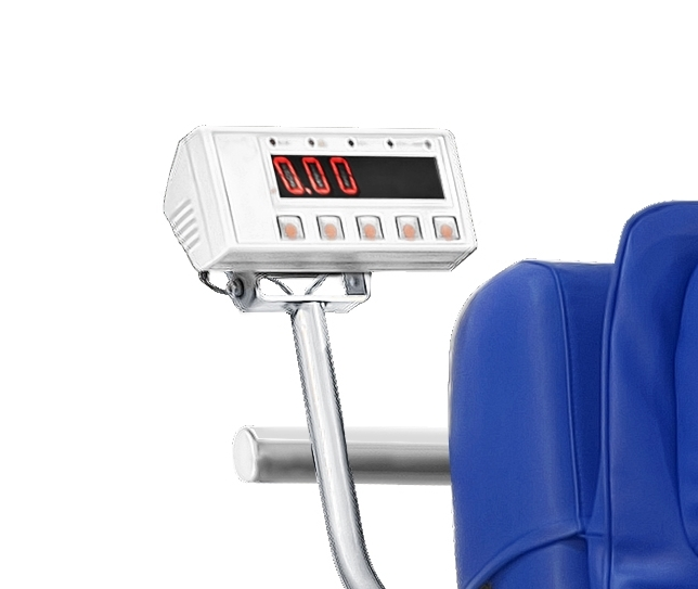 384460 Height adjustable electric chair with integrated electronic scales