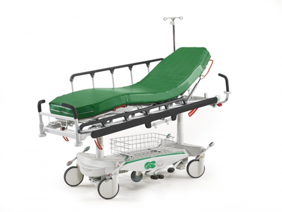 Hydraulic stretcher for endoscopy (enthes), variable height...