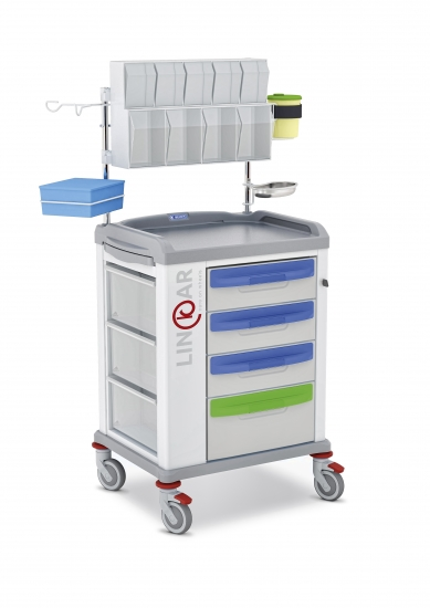 LINKAR Medication trolley, 45 cm drawers, with...
