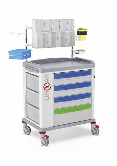 LINKAR Medication trolley, 60 cm drawers, with...