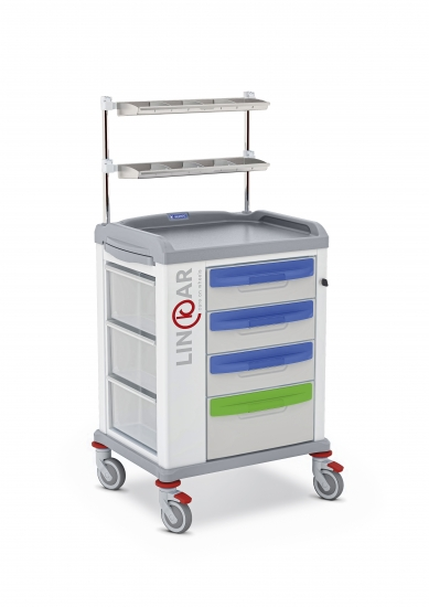 LINKAR Medication trolley, 45 cm drawers, upper...
