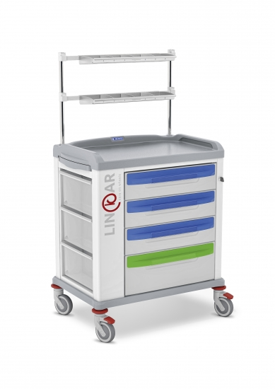 LINKAR Medication trolley, 60 cm drawers, upper...