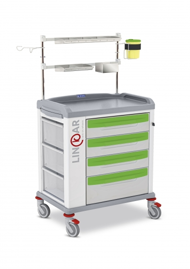 LINKAR Anesthesia/Intensive Care trolley, 60 cm drawers...