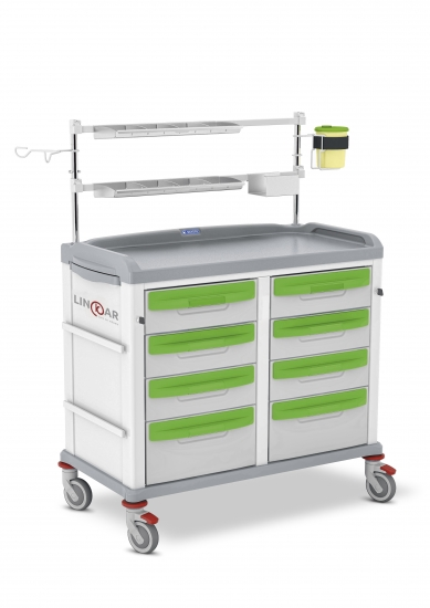 LINKAR Anesthesia/Intensive Care trolley, 45+45 cm drawers...