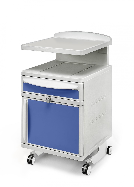 Hospital bedside cabinet - Bedside Cabinet For Hospital On 4 Castors 2 Of Which Swivelling With Brake