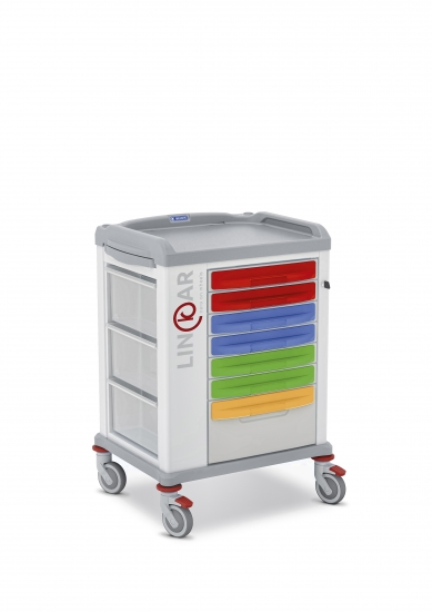 LINKAR Medicine Distribution trolley, 45 cm drawers
