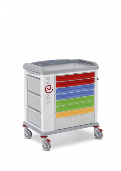 LINKAR Medicine Distribution trolley, 60 cm drawers