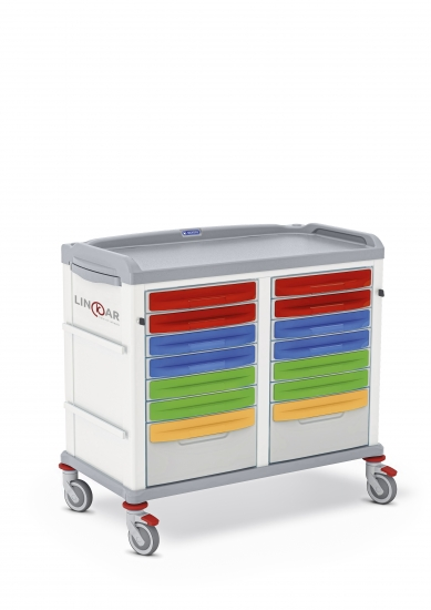 LINKAR Medicine Distribution trolley, 45+45 cm drawers